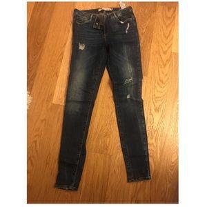 Zara skinny destroyed jeans